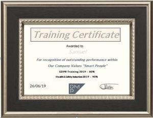 DMP-LLP Work Experience Certificate