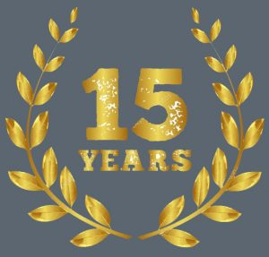 DMP-LLP 15 Years logo