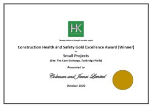 Construction Health & Safety Gold Excellence Award